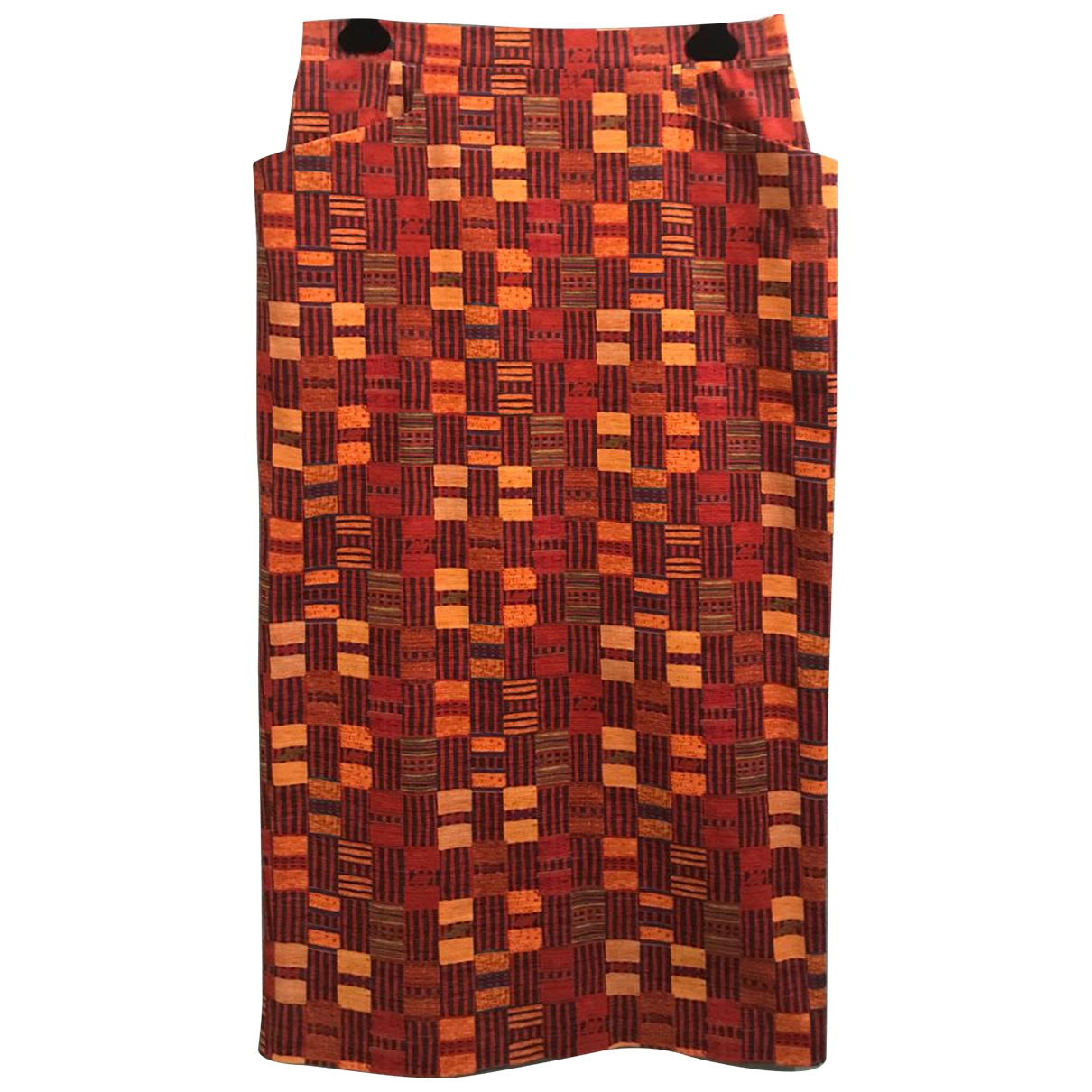 Stella Jean \N Orange Cotton skirt for Women 46 IT