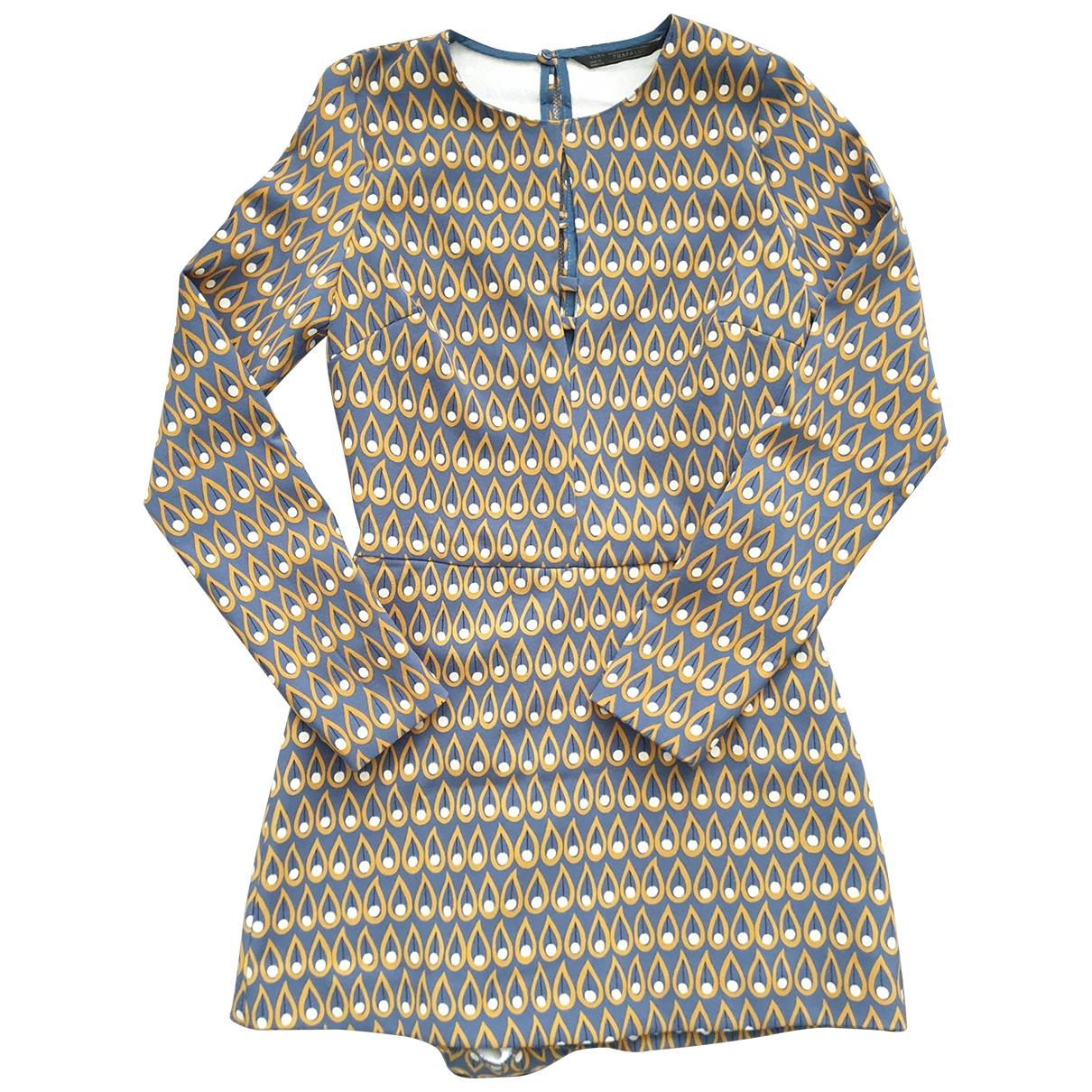 Zara \N Kleid in  Blau Synthetik