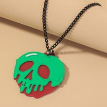 Halloween Skull Charm Necklace