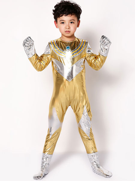 Milanoo Halloween Ultraman Costume Kids Red Boys Long Jumpsuit