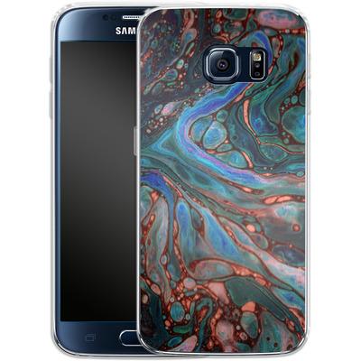 Samsung Galaxy S6 Silikon Handyhuelle - Marbled Darkness von Amy Sia