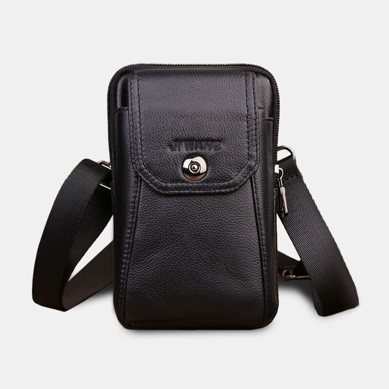 Men Genuine Leather Belt Bag Crossbody Bag