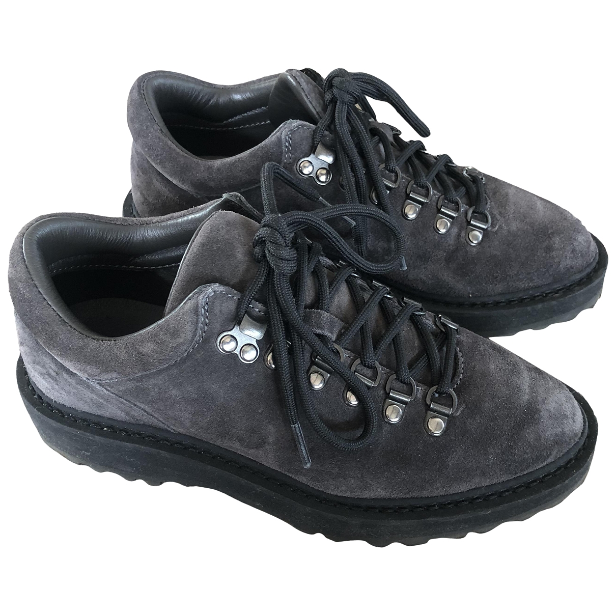 Nanushka - Boots   pour femme en suede - anthracite