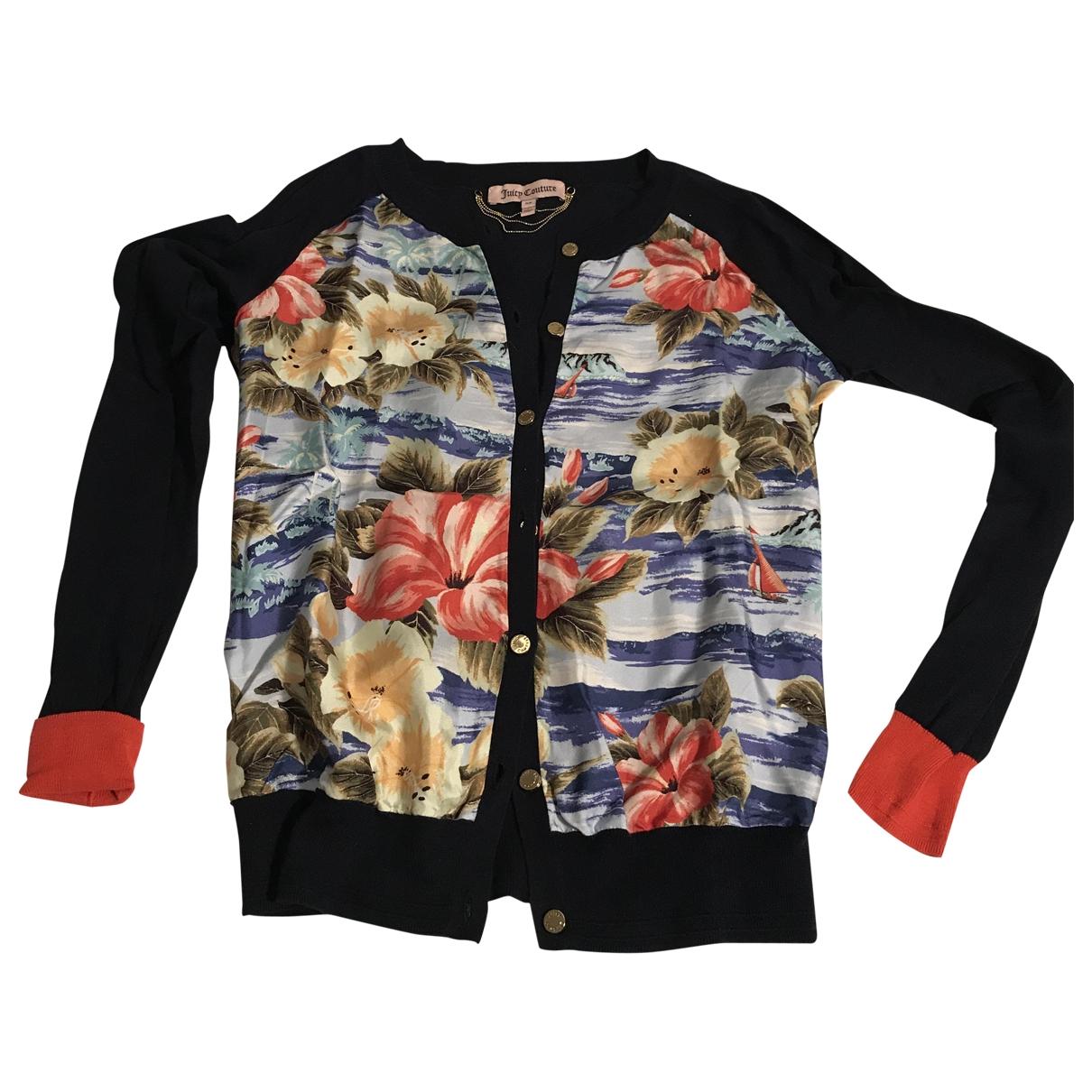 Juicy Couture - Pull   pour femme en soie - bleu