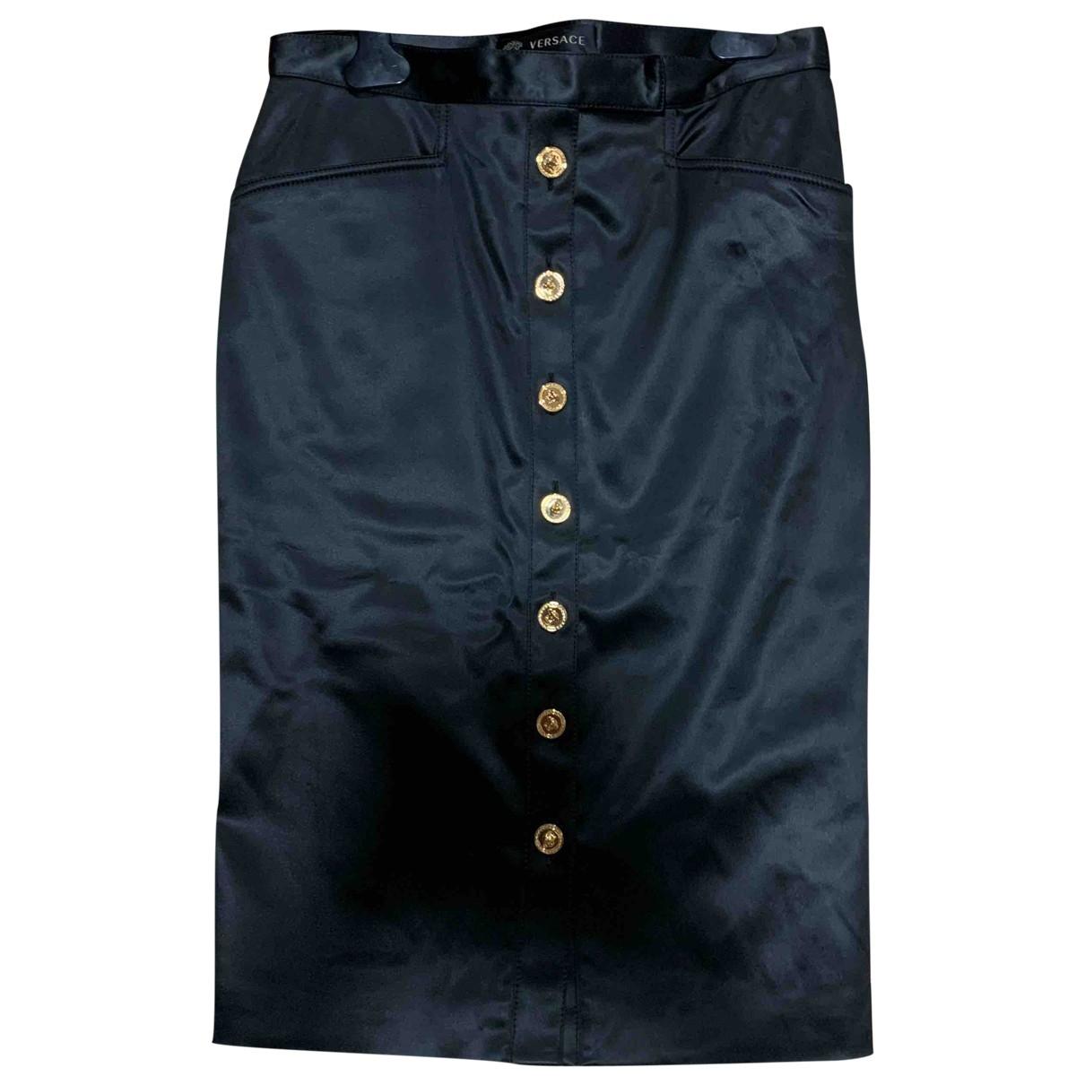 Gianni Versace \N Black Silk skirt for Women 38 IT