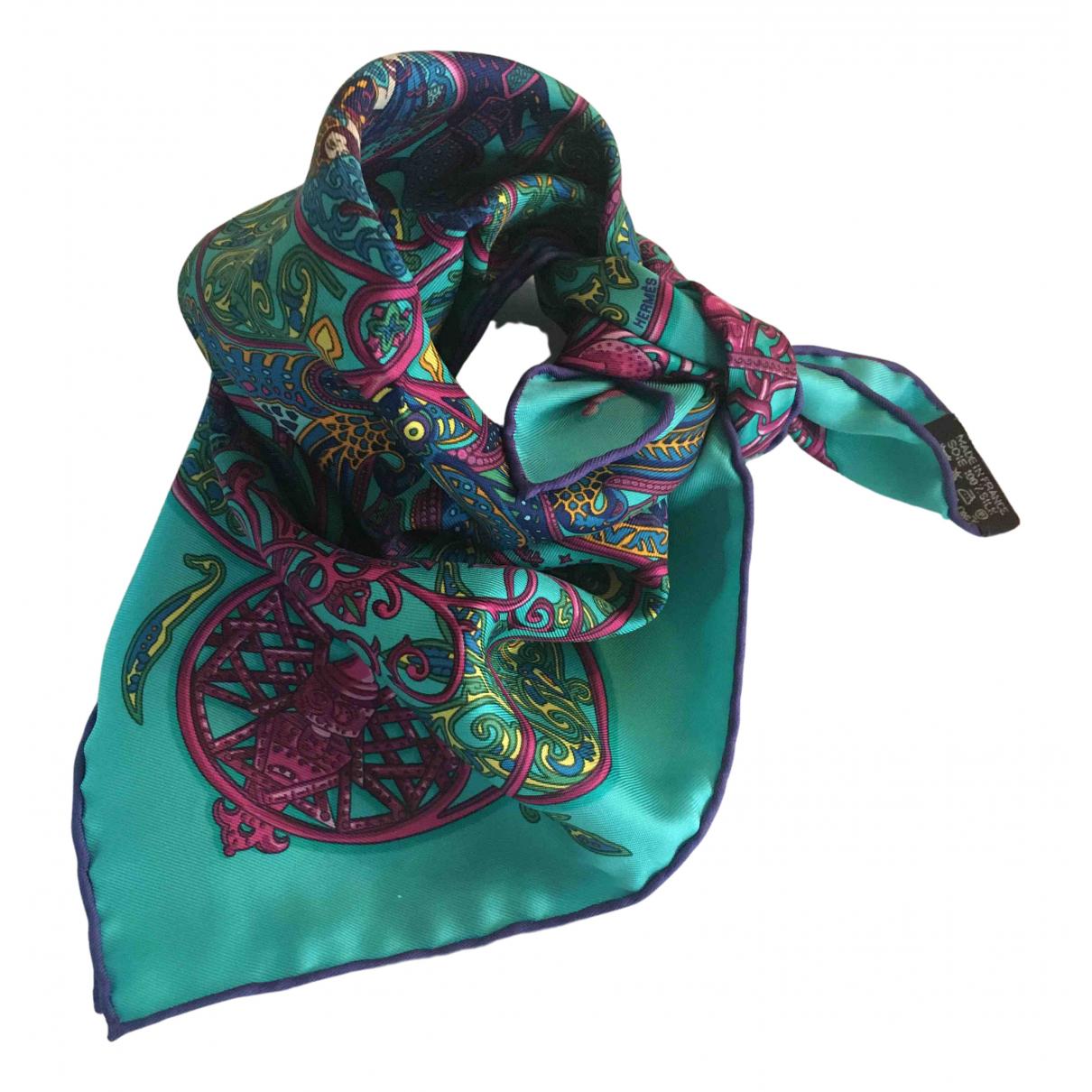 Hermes - Foulard Gavroche 45 pour femme en soie - bleu