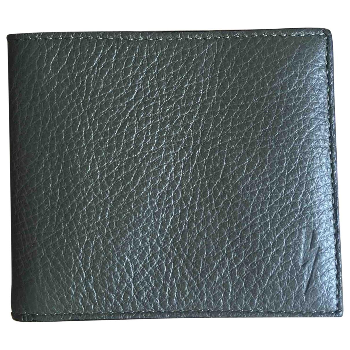 Neil Barrett \N Green Leather Small bag, wallet & cases for Men \N