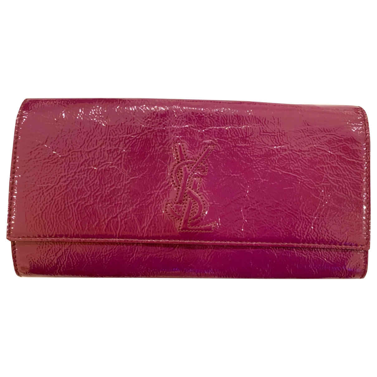 Yves Saint Laurent Belle de Jour Clutch in  Lila Lackleder