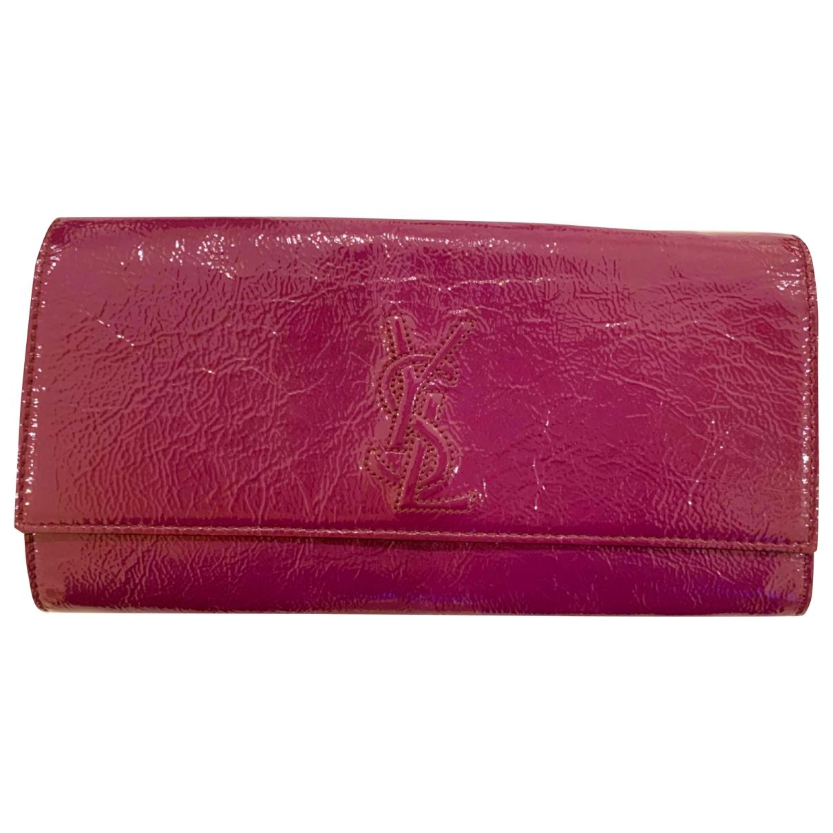 Yves Saint Laurent - Pochette Belle de Jour pour femme en cuir verni - violet