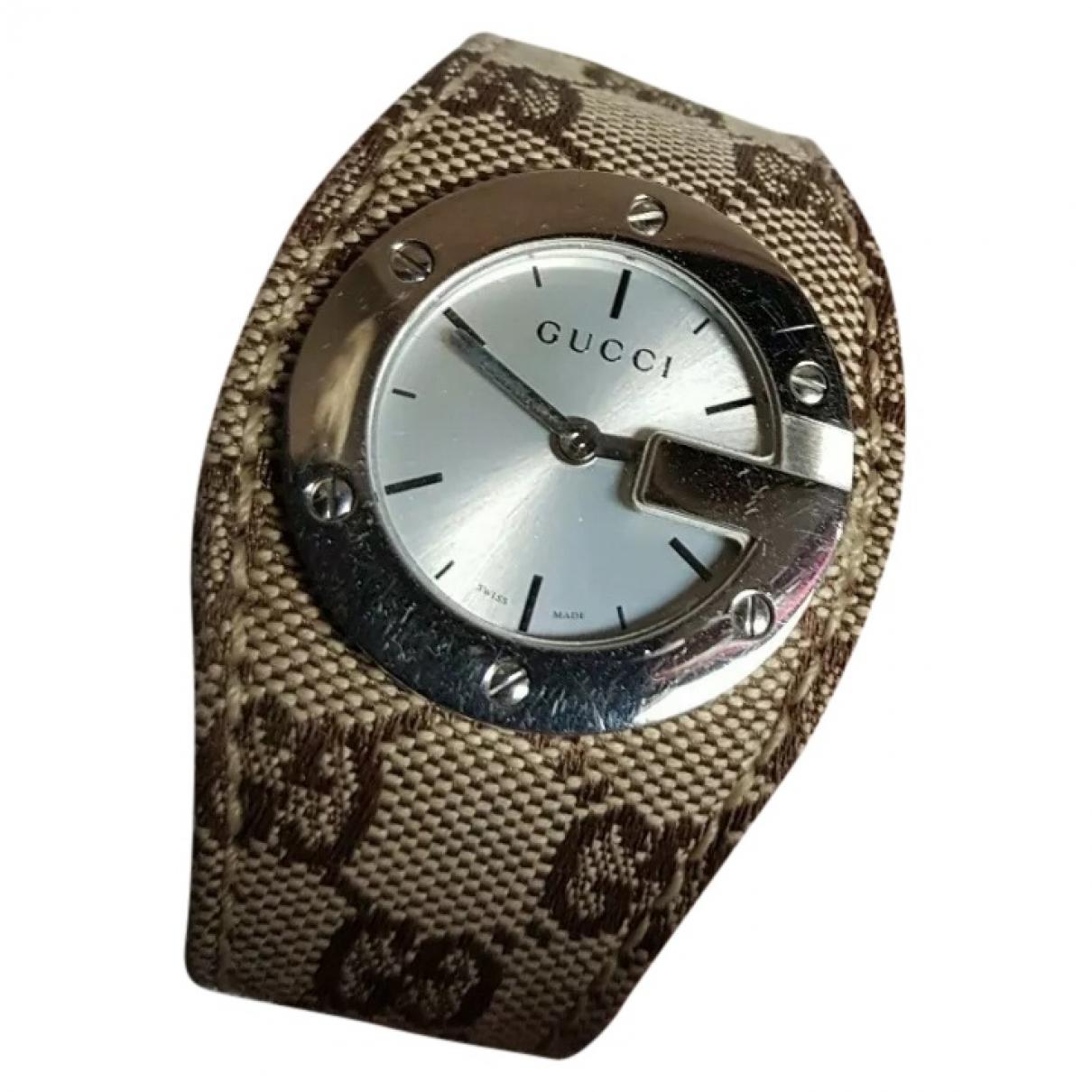 Gucci Interlocking Beige Steel watch for Women \N