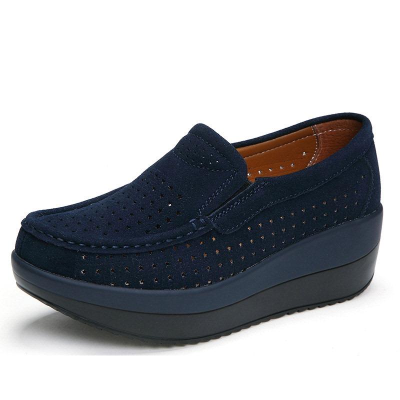 Ericdress Slip-On Wedge Heel Thread Mid-Heel (3-5cm) Thin Shoes
