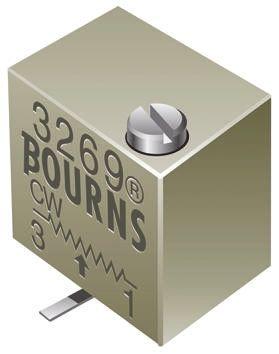 Bourns 2kΩ, SMD Trimmer Potentiometer 0.25W Top Adjust , 3269