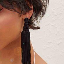 1pair Tassel Drop Earrings