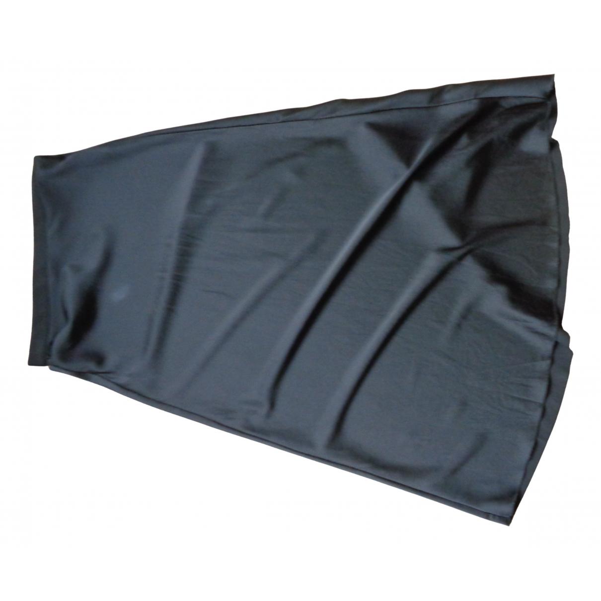 Non Signé / Unsigned N Black Silk skirt for Women XS International