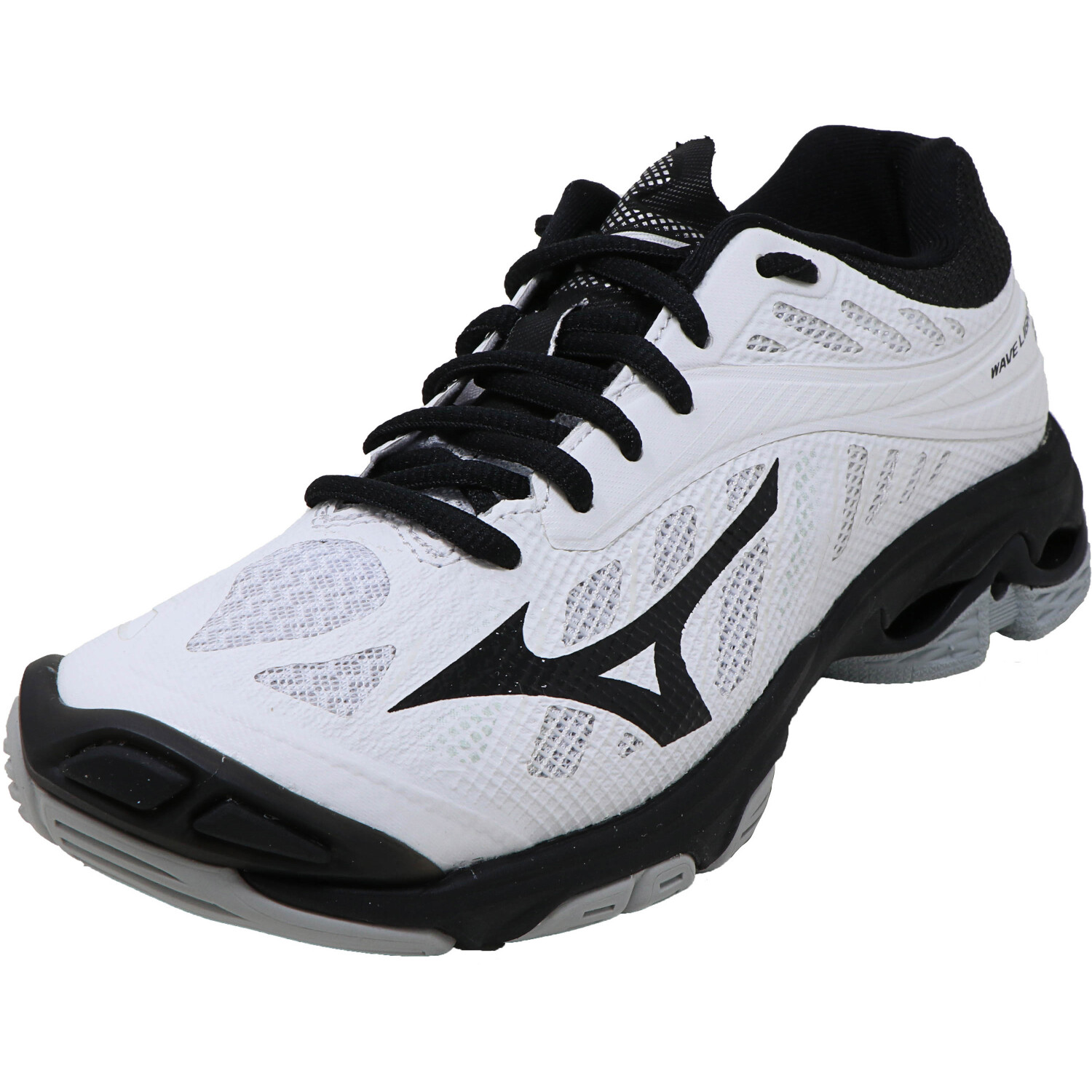 Mizuno Wave Lightning Z4 Volleyball Shoe for Women - 7M - White / Navy / Black