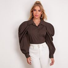 Exaggerate Gigot Sleeve Blouse