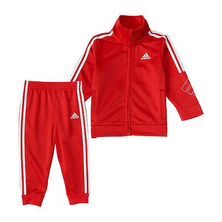 adidas Baby Girls 2-pc. Pant Set, 18 Months , Red