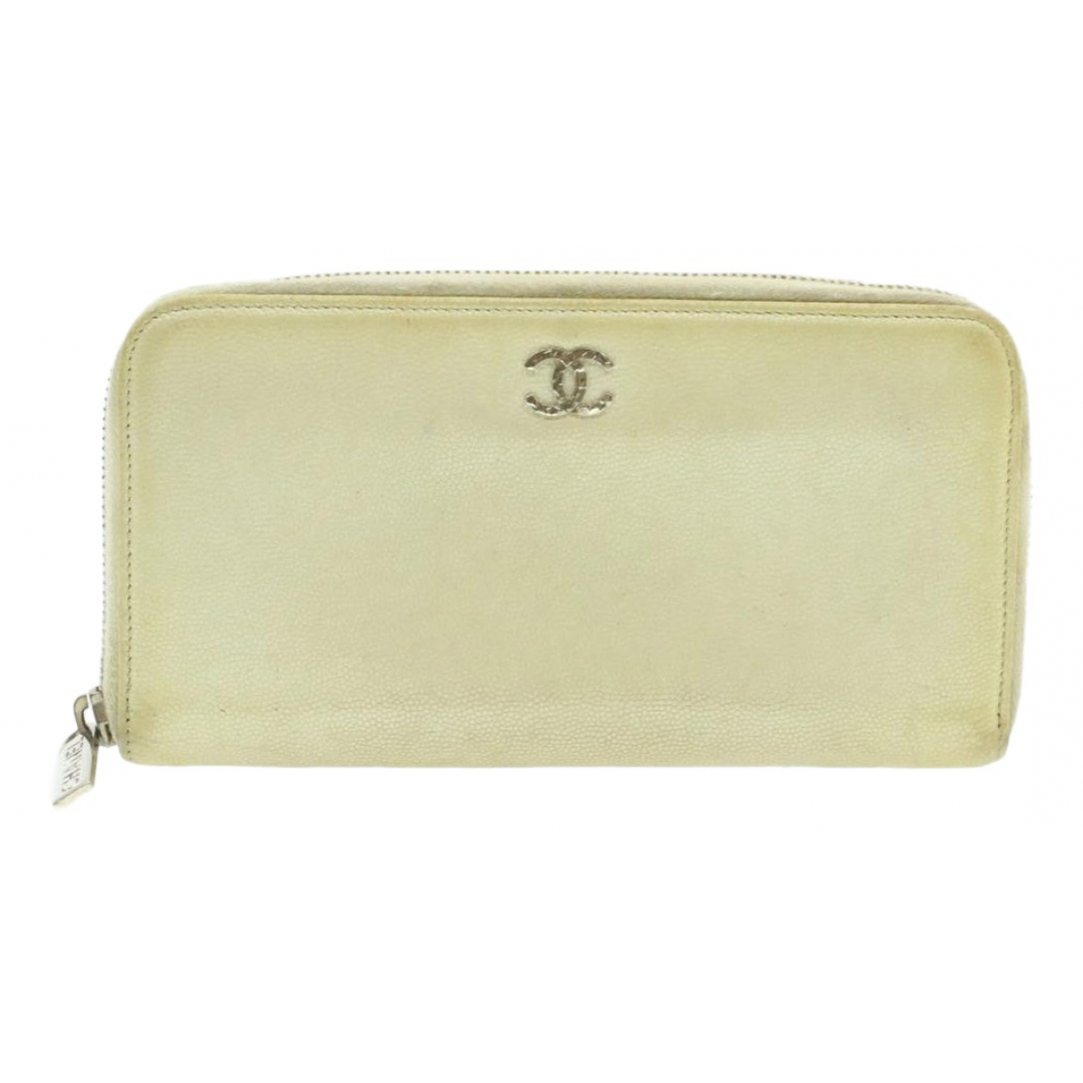 Chanel \N Portemonnaie in  Weiss Leder