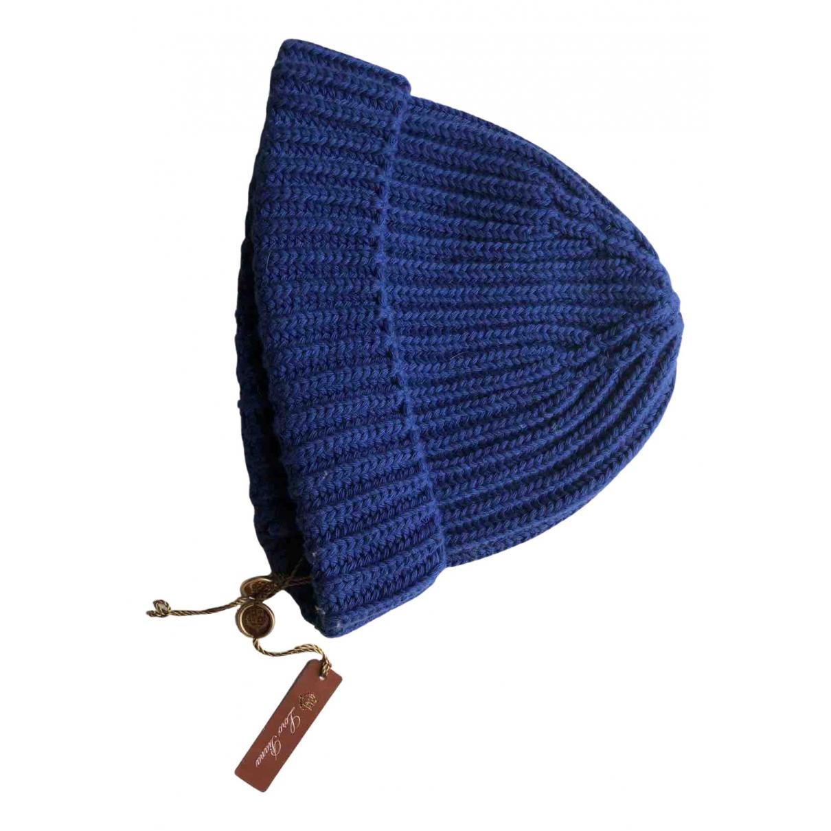 Loro Piana - Chapeau & Bonnets   pour homme en cachemire - bleu