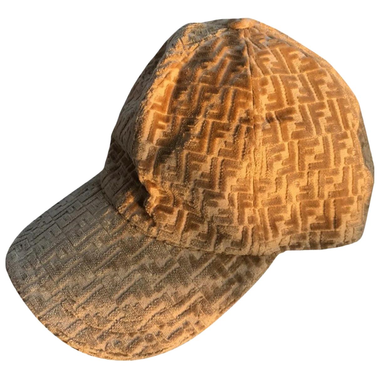 Fendi - Chapeau & Bonnets   pour homme en coton - beige