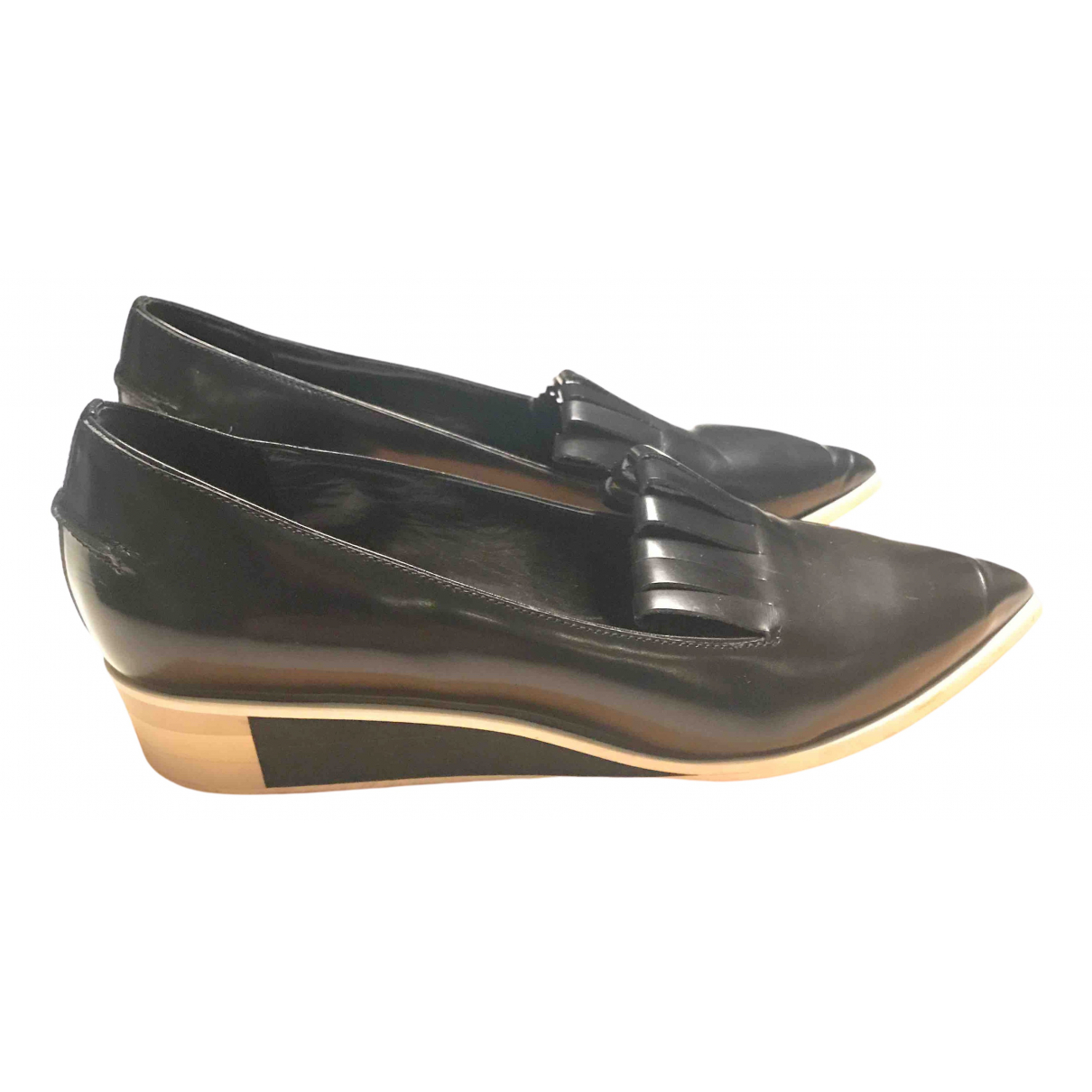 Acne Studios N Black Leather Flats for Women 37 EU