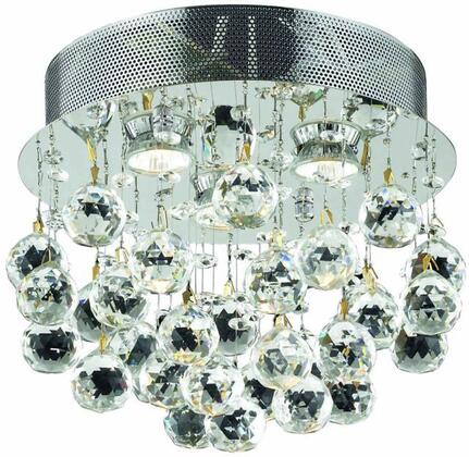 V2006F13C/RC 2006 Galaxy Collection Flush Mount D:13In H:12In Lt:3 Chrome Finish (Royal Cut
