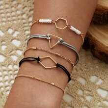 5pcs Geo Chain Bracelet