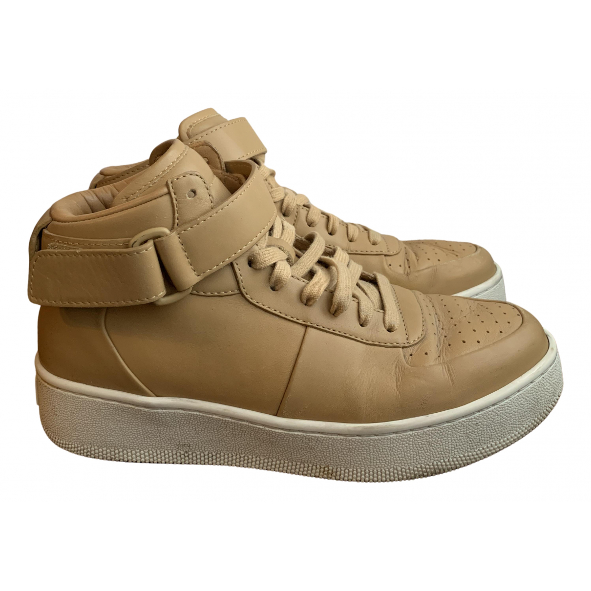 Celine N Beige Leather Trainers for Women 39 EU