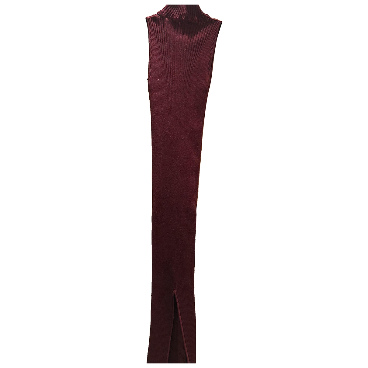 Non Signé / Unsigned \N Burgundy dress for Women One Size FR