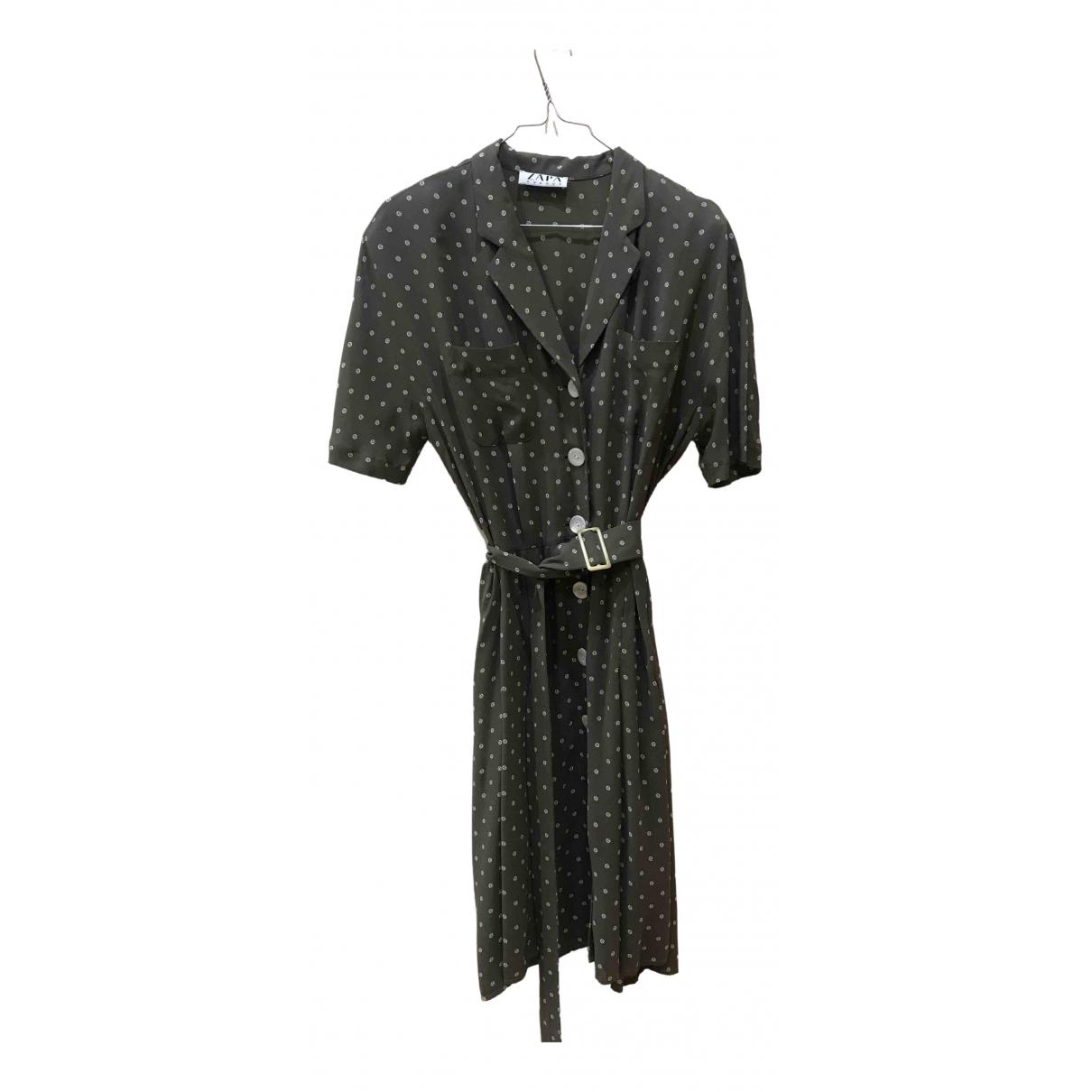 Zapa - Robe   pour femme en coton - elasthane - vert