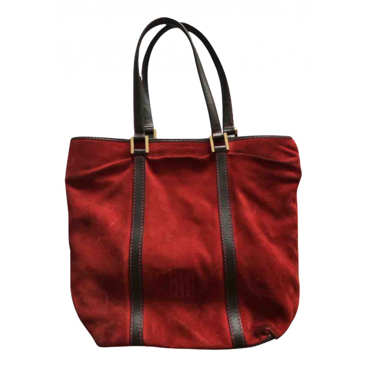 Moschino Cheap And Chic \N Handtasche in  Rot Veloursleder