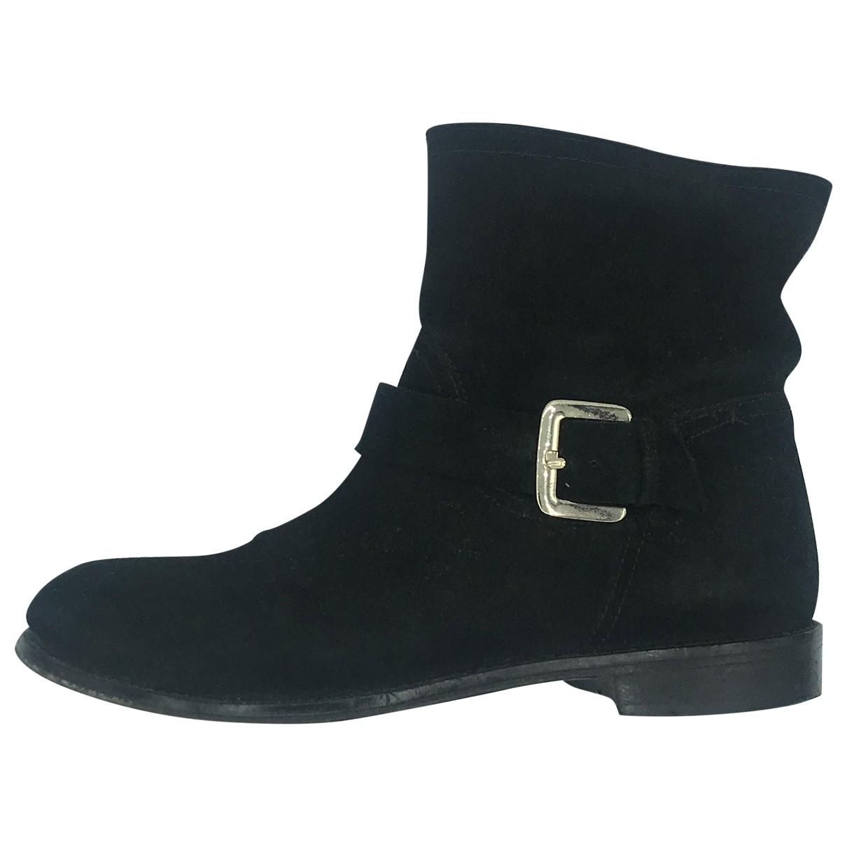 Patrizia Pepe - Boots   pour femme en suede - noir