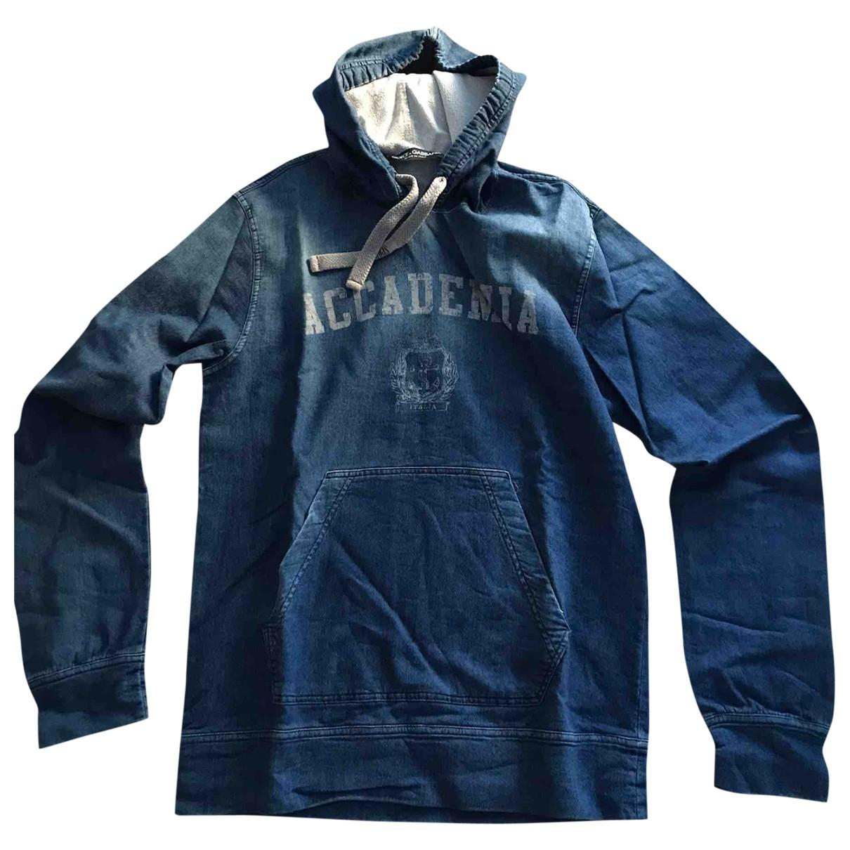 Dolce & Gabbana \N Pullover.Westen.Sweatshirts  in  Blau Baumwolle