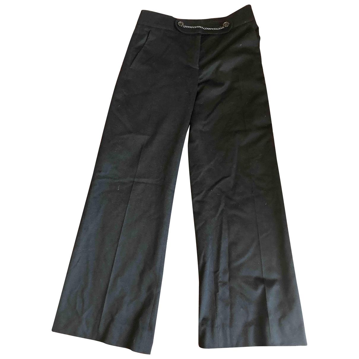 Nicole Farhi \N Black Wool Trousers for Women 8 UK