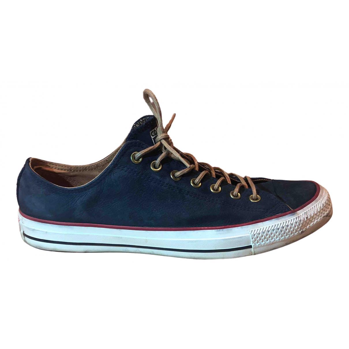 Converse \N Sneakers in  Blau Veloursleder