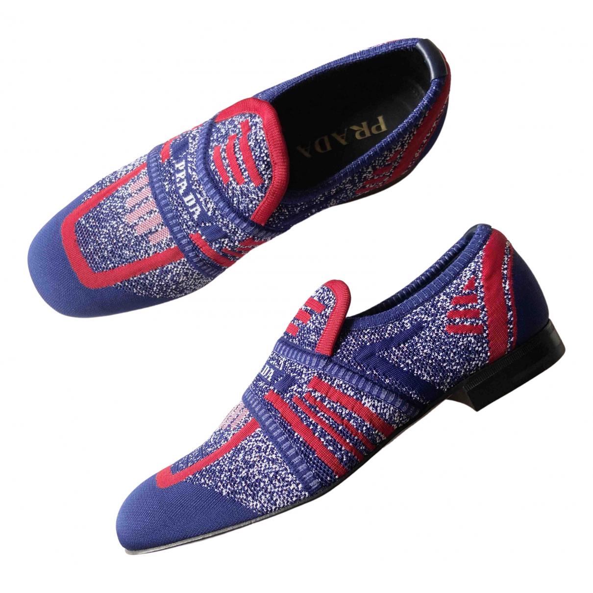 Prada \N Blue Cloth Flats for Men 40 EU