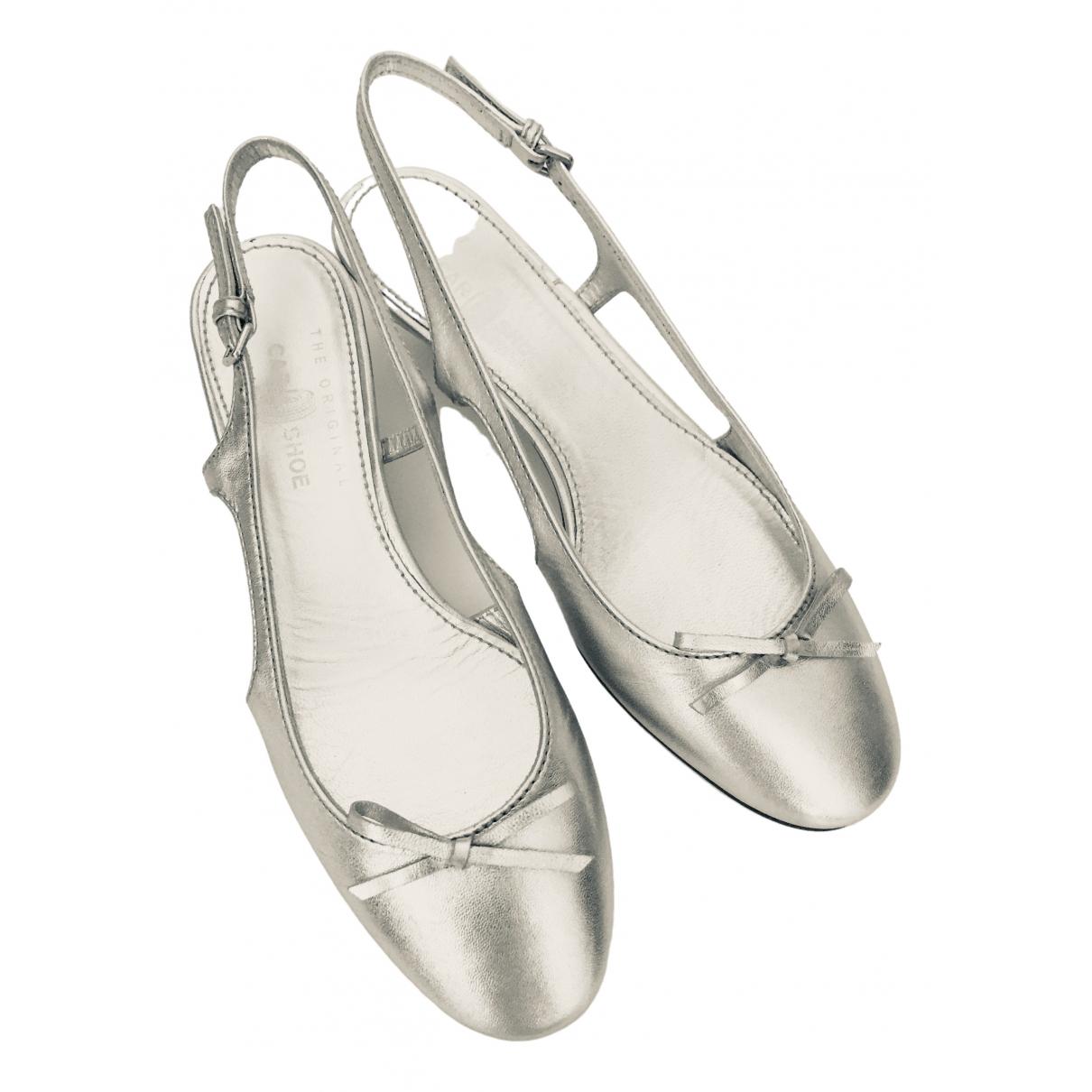 Carshoe \N Ballerinas in  Silber Leder