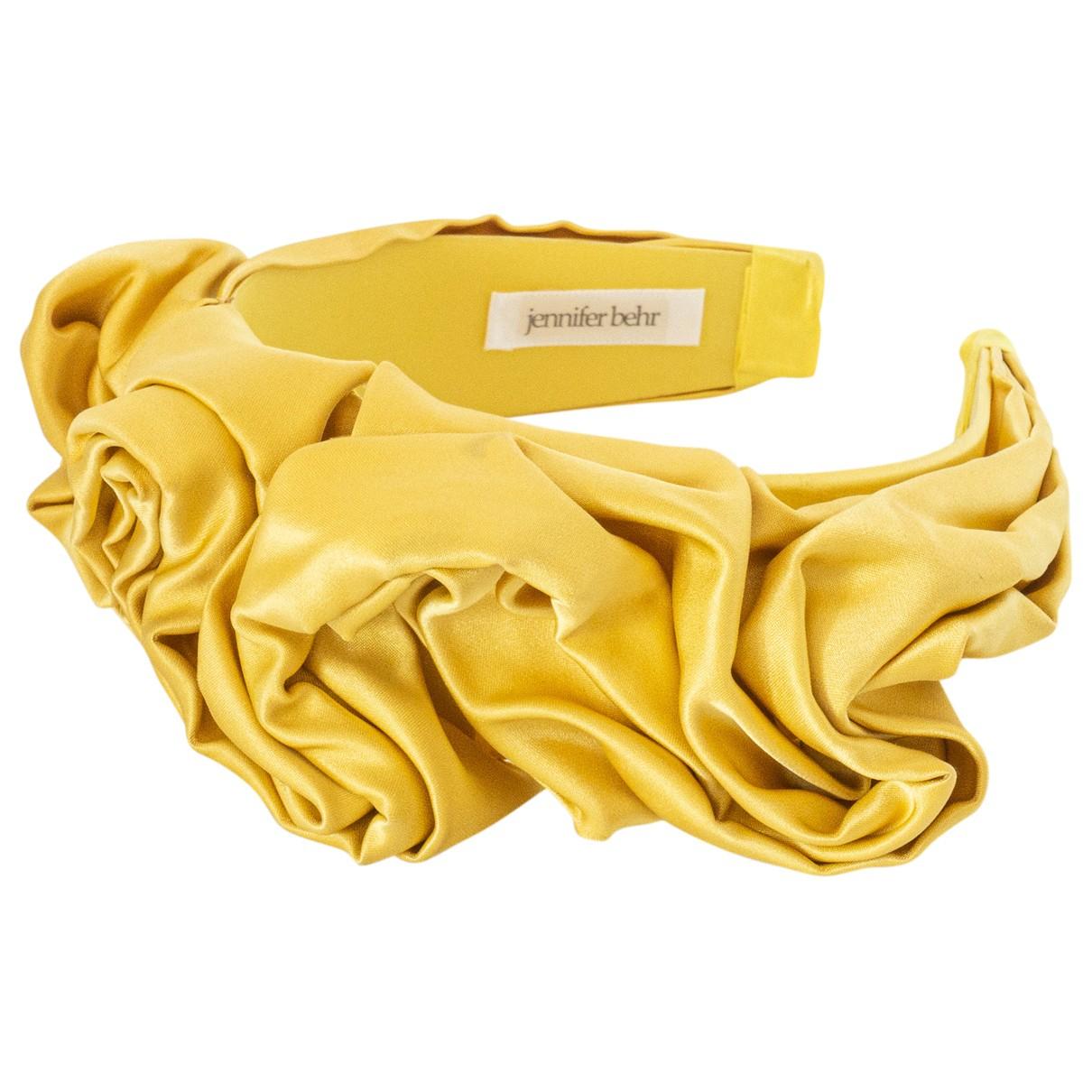Jennifer Behr \N Haarschmuck in  Gelb Seide