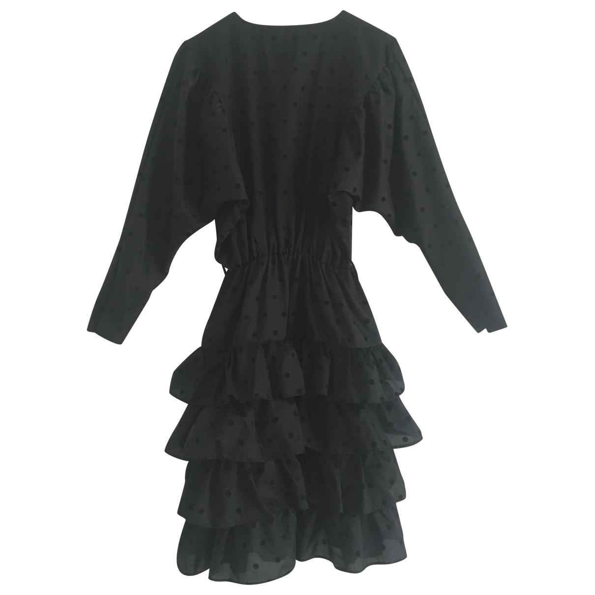 Non Signé / Unsigned Manche ballon Black dress for Women 38 FR