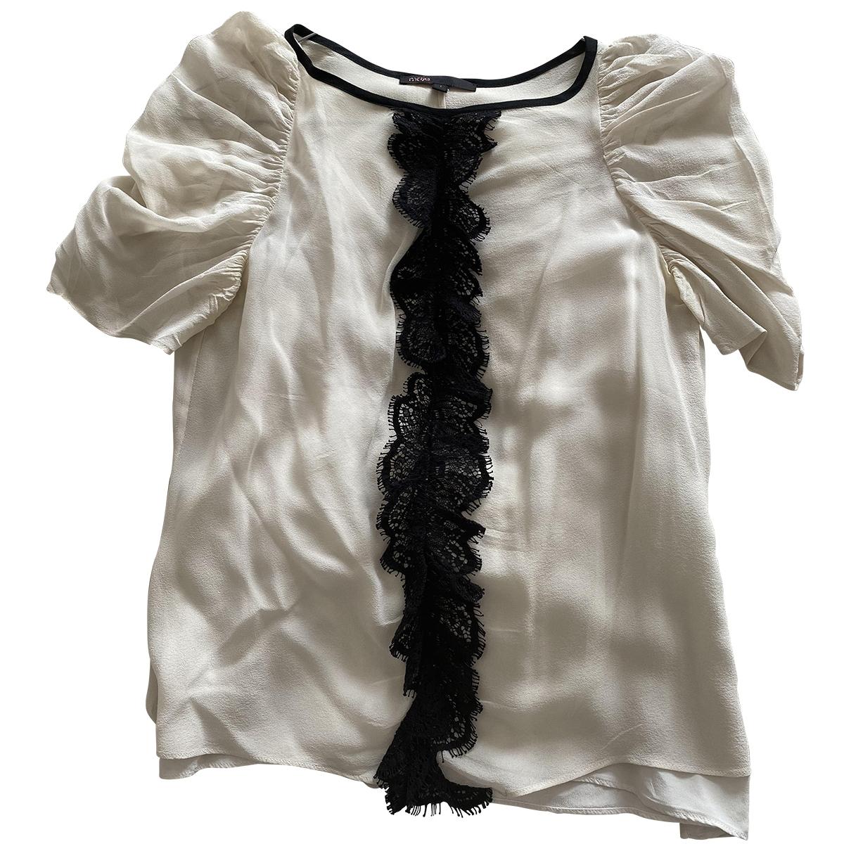 Maje \N Beige Silk  top for Women 36 FR