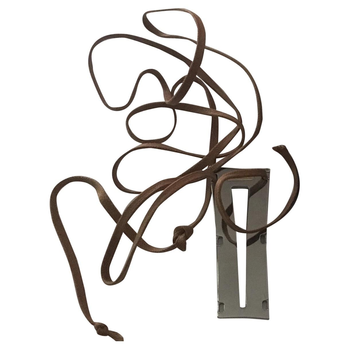 Rebecca - Bracelet   pour femme en acier - marron