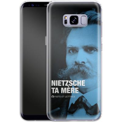 Samsung Galaxy S8 Plus Silikon Handyhuelle - Nietzsche Ta Mere von Fists Et Lettres