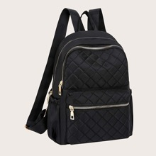 Pocket Front Quilted Backpack