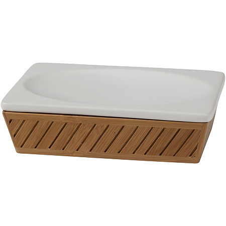 Creative Bath Spa Bamboo Soap Dish, One Size , White