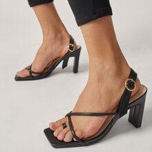 Sandalias Liso Zapatillas abiertas