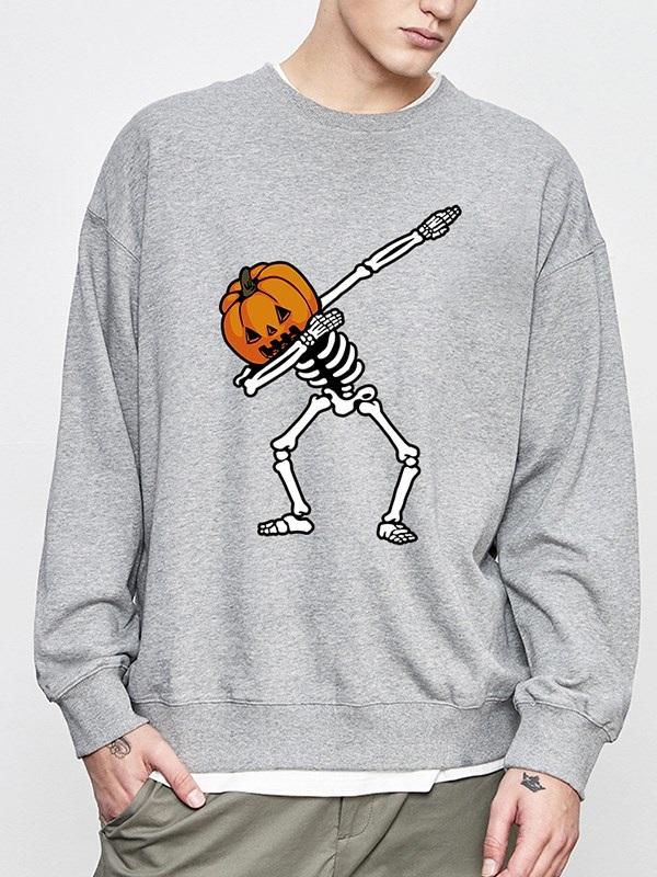 3D Printed Funny Lantern Pumpkin Pullover Hoodies Loose Hooded Long Sleeve Sweatshirts