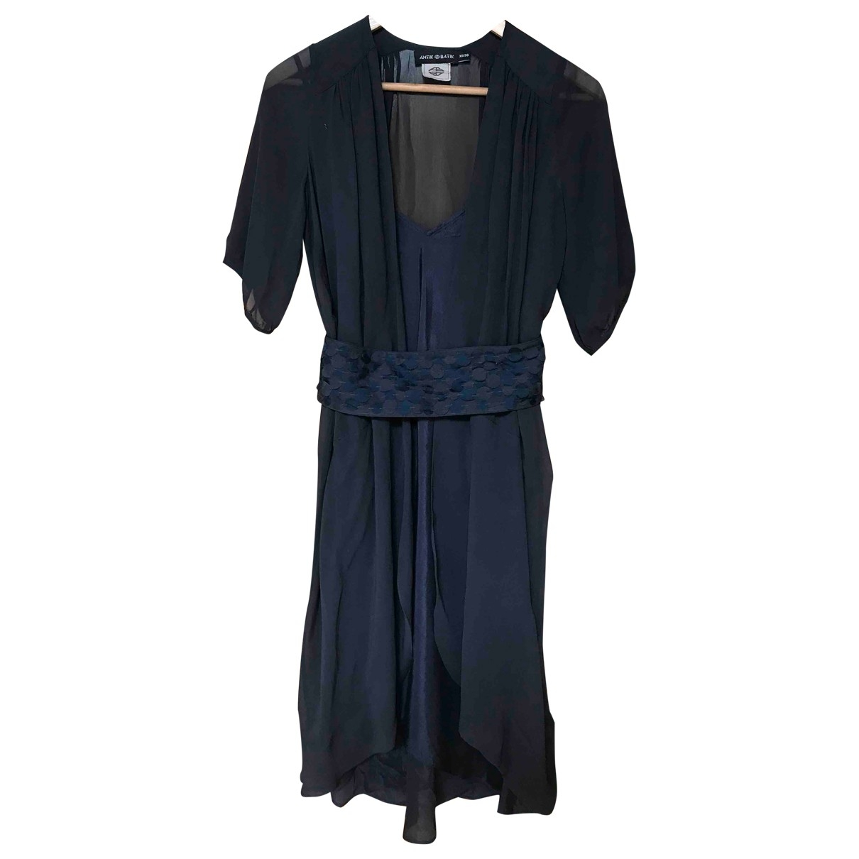 Antik Batik \N Kleid in  Blau Seide