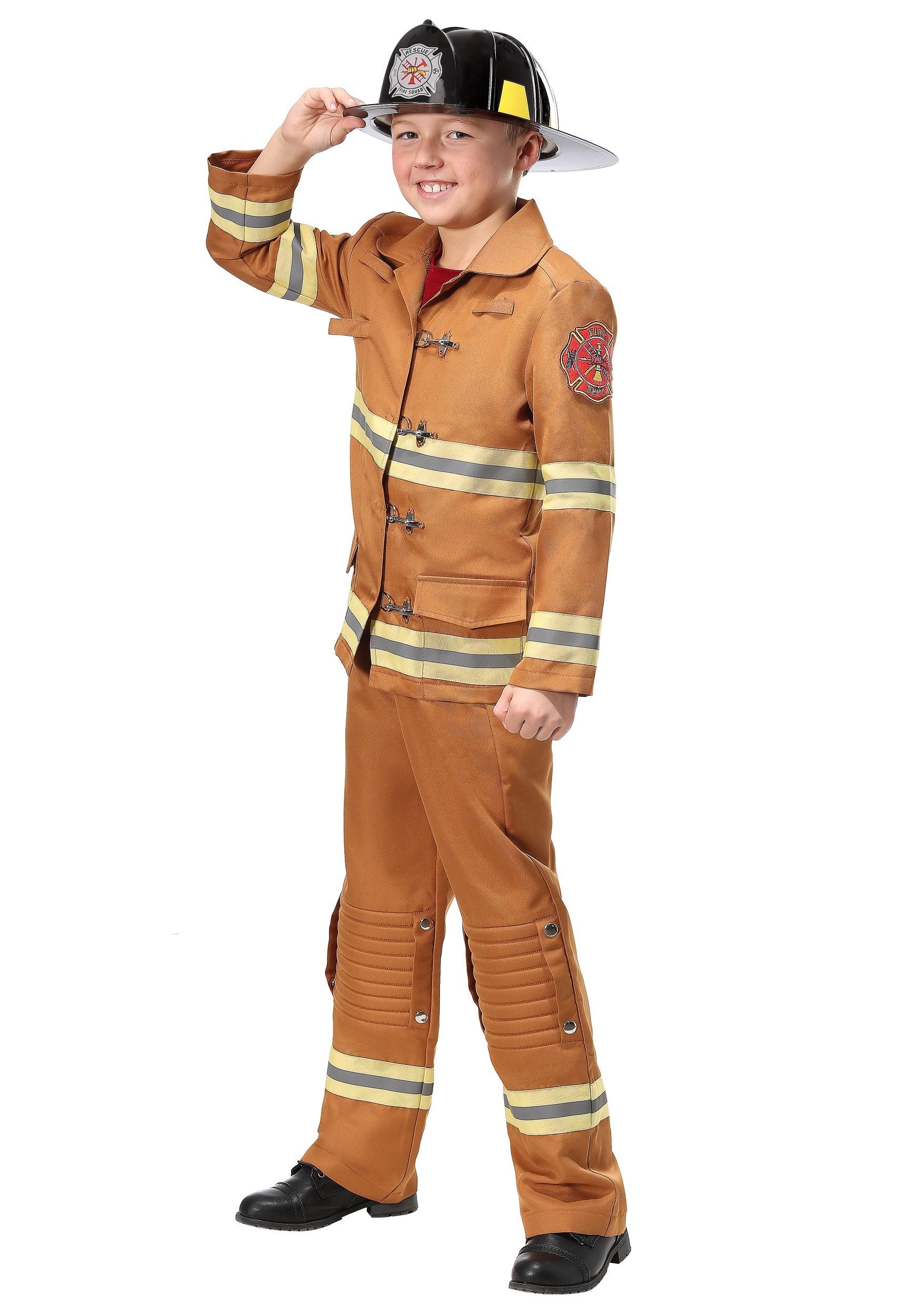 Firefighter Tan Uniform Costume for Kids