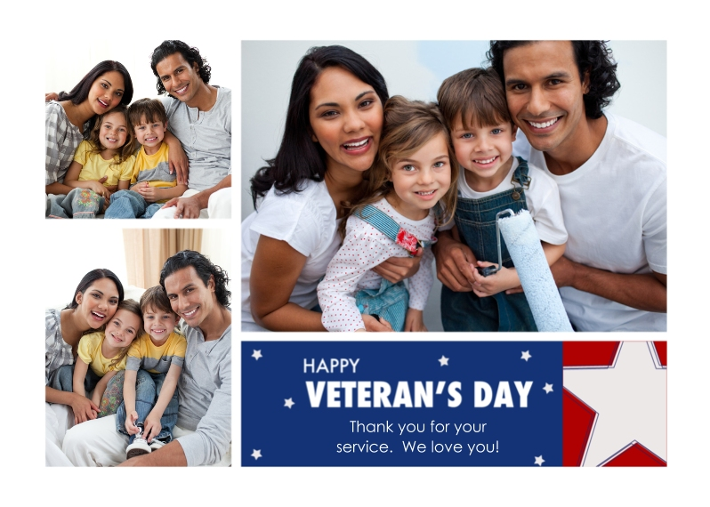 Veteran's Day Cards 5x7 Cards, Premium Cardstock 120lb with Rounded Corners, Card & Stationery -Modern Veteran's Day