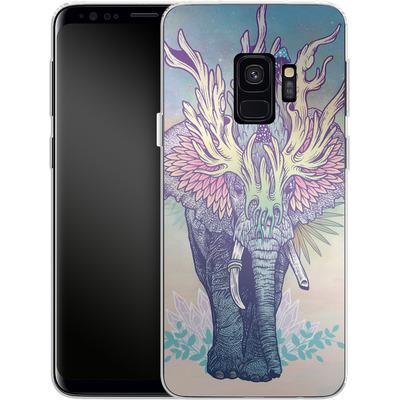 Samsung Galaxy S9 Silikon Handyhuelle - Spirit Elephant von Mat Miller